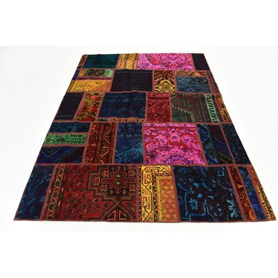 One-of-a-Kind Sela Vintage Persian Hand Woven Wool Rectangle Blue/Orange Area Rug