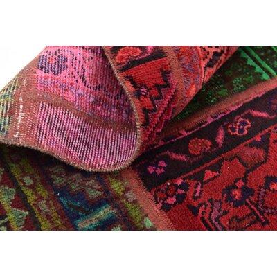 One-of-a-Kind Sela Vintage Persian Hand Woven 100% Wool Green/Orange Oriental Area Rug