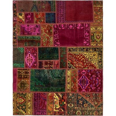 One-of-a-Kind Sela Vintage Persian Hand Woven Wool Yellow/Pink Area Rug with Cotton Backing