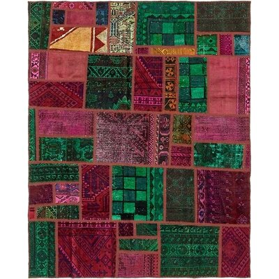 One-of-a-Kind Sela Vintage Persian Hand Woven Wool Rectangle Pink/Green Area Rug