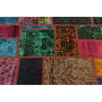 One-of-a-Kind Sela Vintage Persian Hand Woven Wool Purple/Green Area Rug