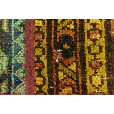 One-of-a-Kind Sela Vintage Persian Hand Woven 100% Wool Orange/Green Area Rug