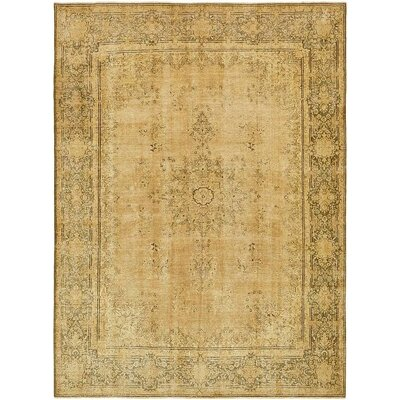 One-of-a-Kind Sela Vintage Persian Hand Woven Wool Ivory Area Rug