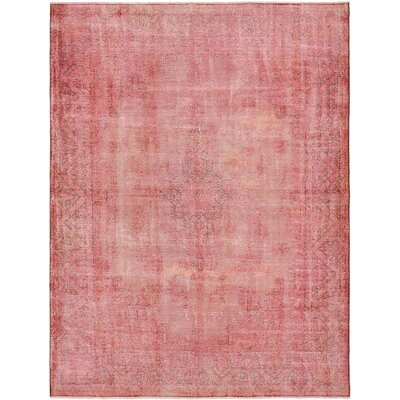 One-of-a-Kind Sela Vintage Persian Hand Woven Wool Pink Area Rug