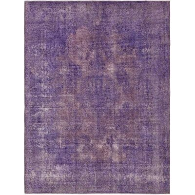 One-of-a-Kind Sela Vintage Persian Hand Woven Wool Purple Area Rug