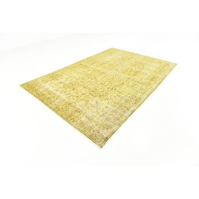 One-of-a-Kind Sela Vintage Hand Woven Wool Olive Area Rug