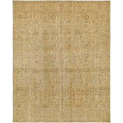 One-of-a-Kind Sela Traditional Vintage Persian Hand Woven Dyed 100% Wool Rectangle Beige Area Rug