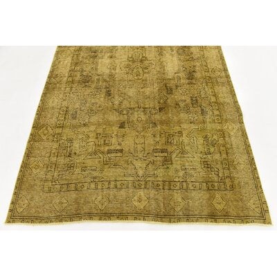 One-of-a-Kind Sela Vintage Persian Hand Woven Wool Beige Area Rug