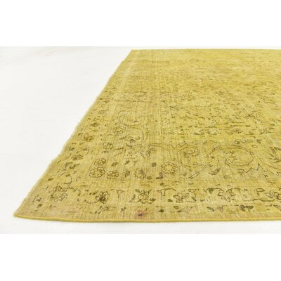 One-of-a-Kind Sela Vintage Persian Hand Woven Wool Cream Area Rug