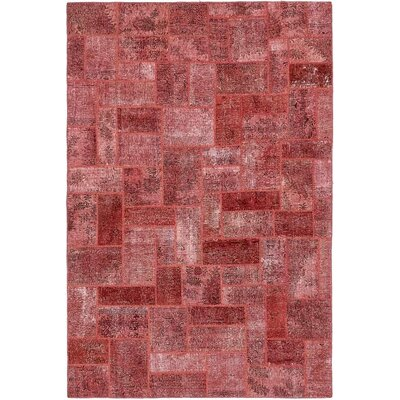 One-of-a-Kind Muhammad Traditional Vintage Persian Hand Woven Wool Rectangle Red Oriental Area Rug