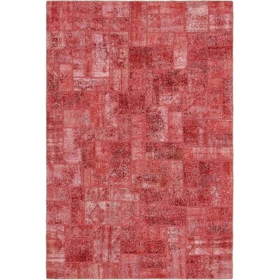 One-of-a-Kind Muhammad Traditional Vintage Persian Hand Woven Dyed Wool Rectangle Red Oriental Area Rug