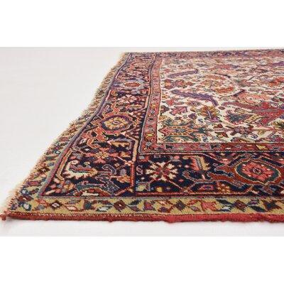 One-of-a-Kind Jaida Persian Hand Woven 100% Wool Cream Area Rug
