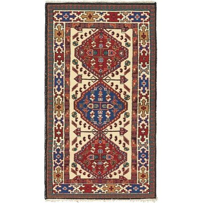 One-of-a-Kind Jaida Persian Hand Woven Wool Beige Area Rug