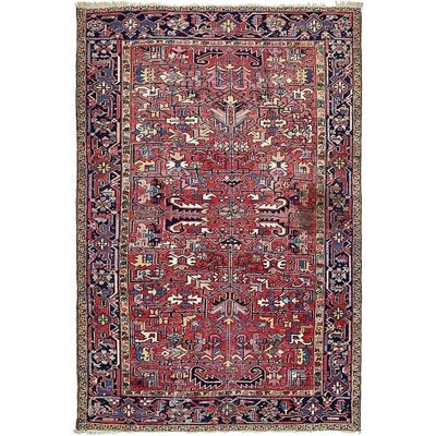 One-of-a-Kind Jaida Persian Hand Woven 100% Wool Red Floral Area Rug