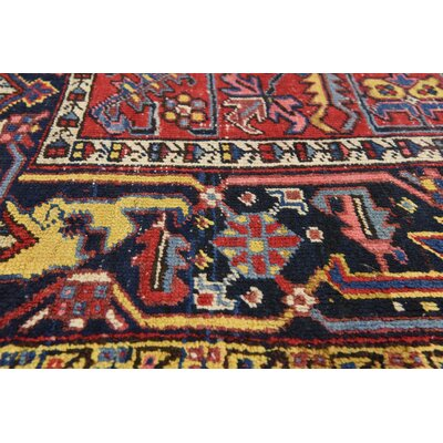 One-of-a-Kind Jaida Traditional Persian Hand Woven 100% Wool Red Area Rug