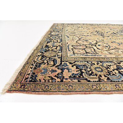 One-of-a-Kind Jaida Persian Hand Woven Wool Rust Red Area Rug
