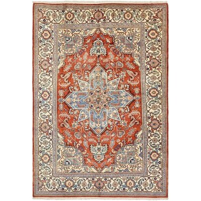 One-of-a-Kind Jaida Persian Hand Woven Dyed Wool Red Area Rug with Cotton Backing
