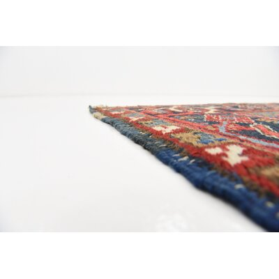One-of-a-Kind Jaida Persian Hand Woven Dyed Wool Red Area Rug with Fringe