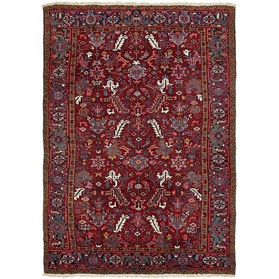 One-of-a-Kind Jaida Traditional Persian Hand Woven Dyed Wool Red Area Rug