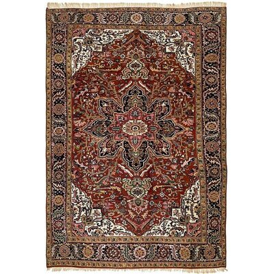 One-of-a-Kind Jaida Persian Hand Woven Dyed Wool Red Oriental Area Rug