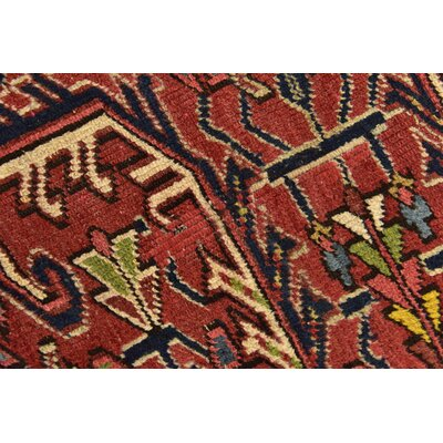 One-of-a-Kind Jaida Persian Hand Woven Wool Rectangle Red Area Rug with Cotton Backing