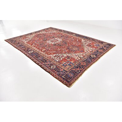One-of-a-Kind Jaida Persian Hand Woven Wool Rectangle Red Oriental Area Rug