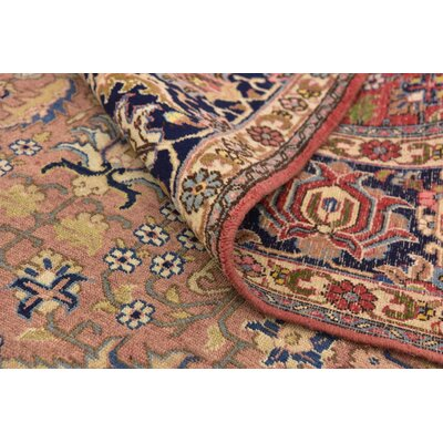 One-of-a-Kind Jaida Persian Hand Knotted Wool Peach Area Rug
