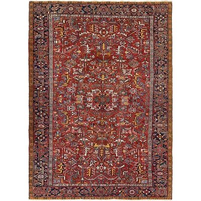 One-of-a-Kind Jaida Persian Hand Woven Wool Red Area Rug with Cotton Backing and Fringe