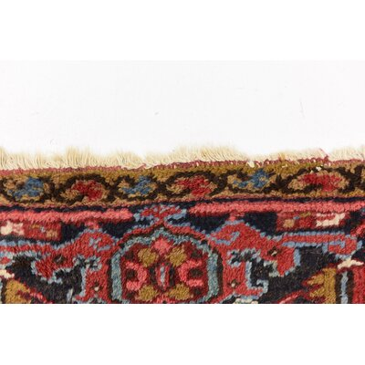One-of-a-Kind Jaida Traditional Persian Hand Woven Wool Red Area Rug with Cotton Backing