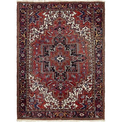 One-of-a-Kind Jaida Persian Hand Woven Wool Red Floral Area Rug