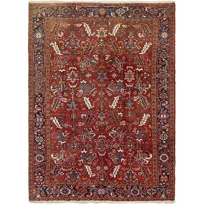 One-of-a-Kind Jaida Persian Hand Woven Wool Red Oriental Area Rug with Fringe