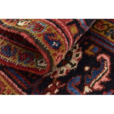 One-of-a-Kind Jaida Traditional Persian Hand Woven Wool Rectangle Red Border Area Rug
