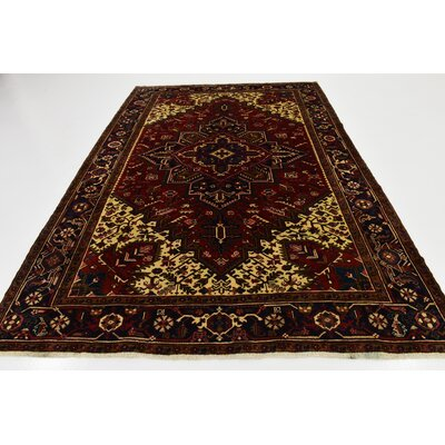 One-of-a-Kind Jaida Persian Hand Woven Wool Red/Beige Area Rug with Cotton Backing