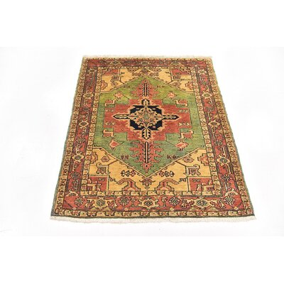 One-of-a-Kind Jaida Persian Hand Woven Wool Green Area Rug
