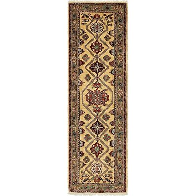 One-of-a-Kind Jaida Persian Runner Hand Woven Wool Cream Area Rug
