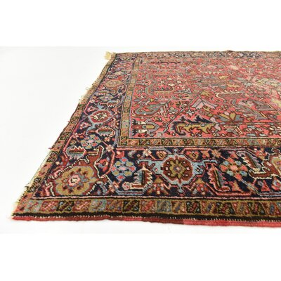 One-of-a-Kind Jaida Traditional Persian Hand Woven Wool Red Oriental Area Rug