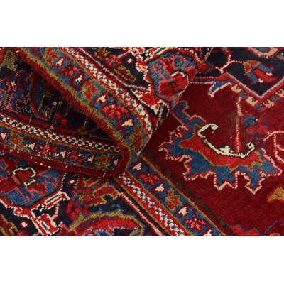 One-of-a-Kind Jaida Persian Hand Woven Wool Red Oriental Area Rug
