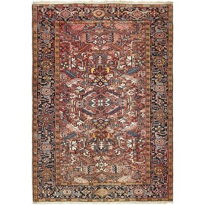 One-of-a-Kind Jaida Traditional Persian Hand Woven Wool Peach Area Rug