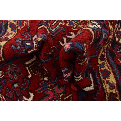 One-of-a-Kind Jaida Persian Hand Woven Dyed Wool Red Oriental Area Rug with Fringe