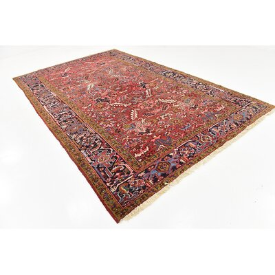 One-of-a-Kind Jaida Persian Hand Woven Wool Red/Yellow Border Area Rug