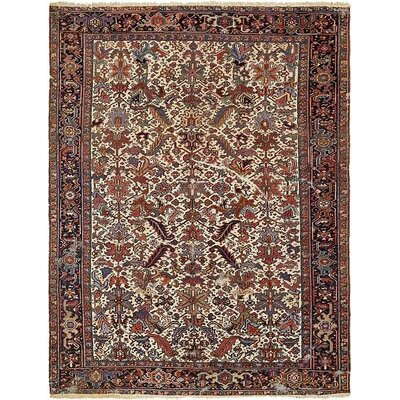 One-of-a-Kind Jaida Persian Hand Woven Dyed Wool Ivory Area Rug