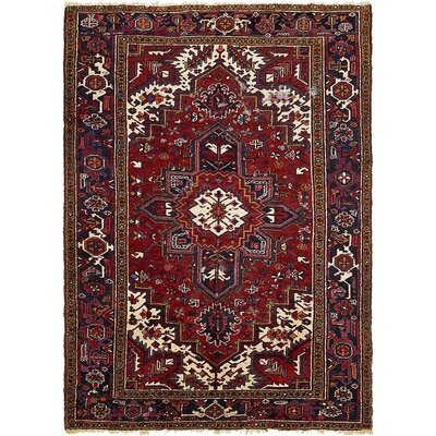 One-of-a-Kind Jaida Persian Hand Woven Dyed Wool Red/Beige Area Rug with Fringe
