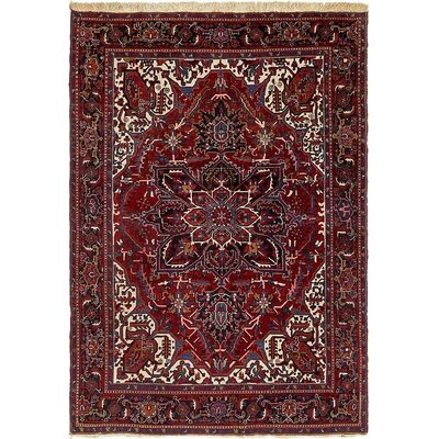One-of-a-Kind Jaida Traditional Persian Hand Woven 100% Wool Red/Beige Area Rug