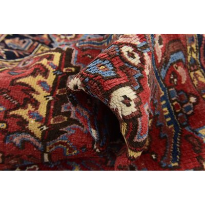 One-of-a-Kind Jaida Persian Hand Woven 100% Wool Red/Yellow Area Rug