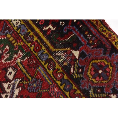One-of-a-Kind Jaida Persian Hand Woven 100% Wool Red Floral Area Rug with Cotton Backing