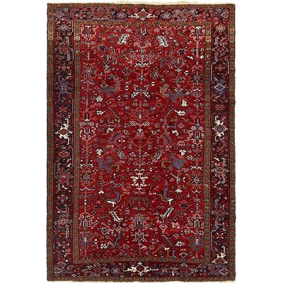 One-of-a-Kind Jaida Persian Hand Woven 100% Wool Red Floral Border Area Rug