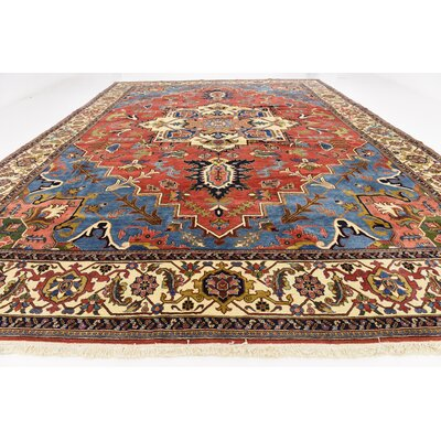 One-of-a-Kind Jaida Persian Hand Woven Wool Blue Area Rug