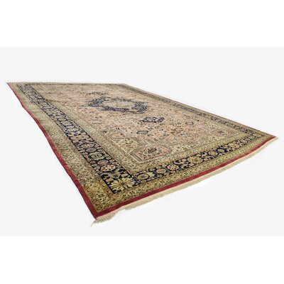 One-of-a-Kind Jaida Persian Hand Woven Wool Light Peach Area Rug