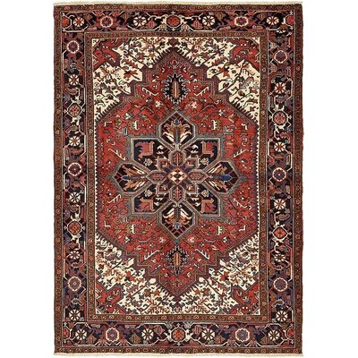 One-of-a-Kind Jaida Persian Hand Woven Dyed Wool Red Medallion Area Rug