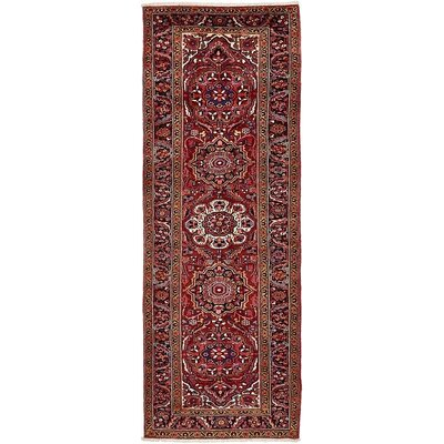One-of-a-Kind Jaida Persian Hand Woven Wool Red Medallion Area Rug